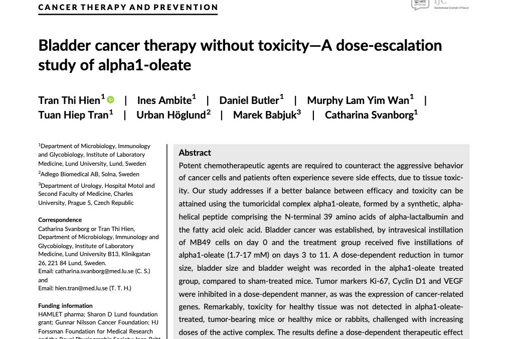 CANCER THERAPY AND PREVENTION Article