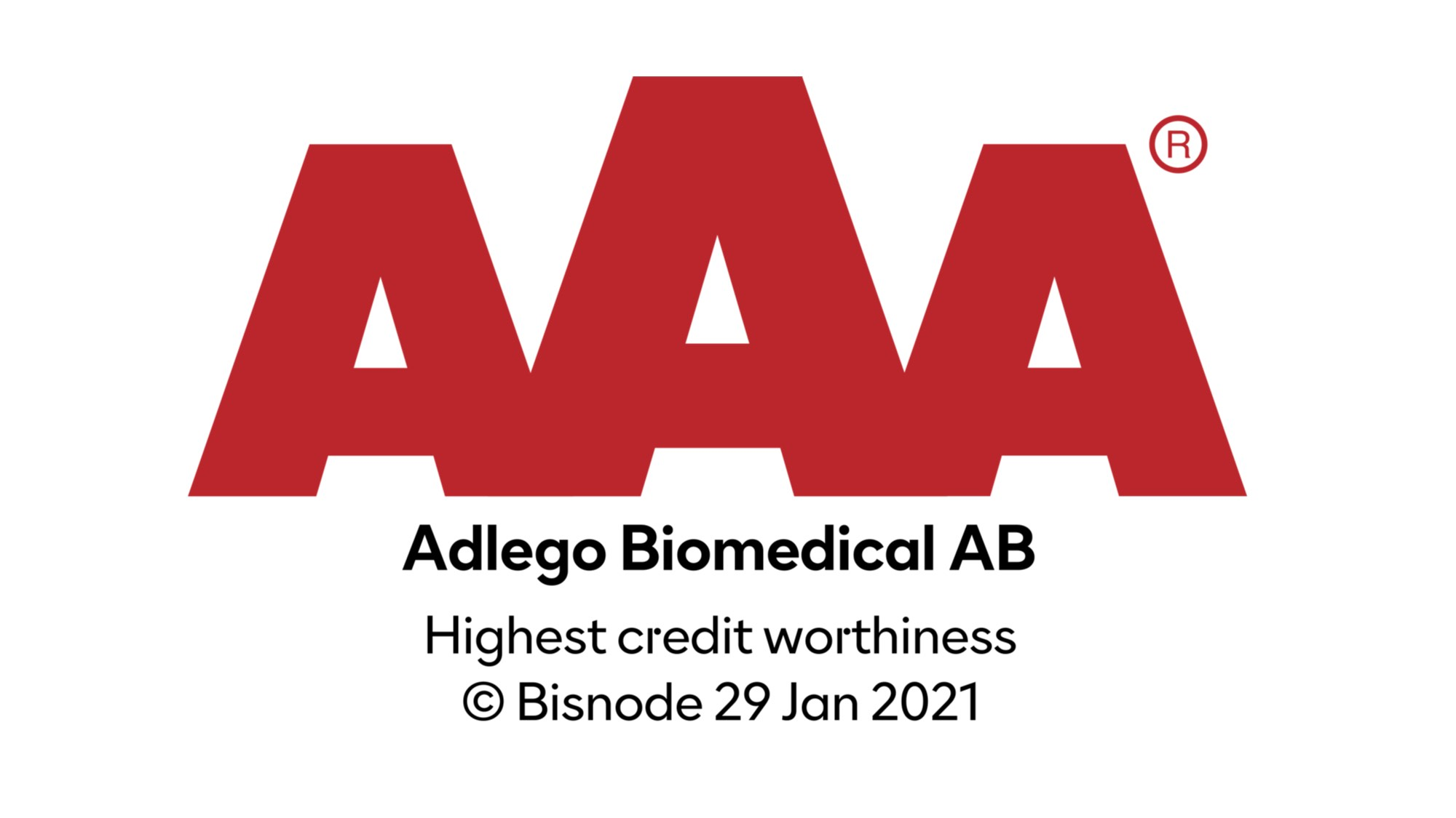 Adlego awarded Triple A level Credit Worthiness
